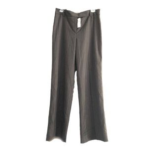 Ann Taylor Pants Trousers Pinstriped Gray 10 NWT